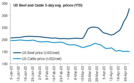 Marfrig preço do gado e carne 1T20